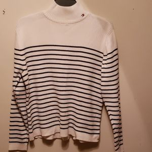 Blue & White striped Tommy Hilfiger sweater